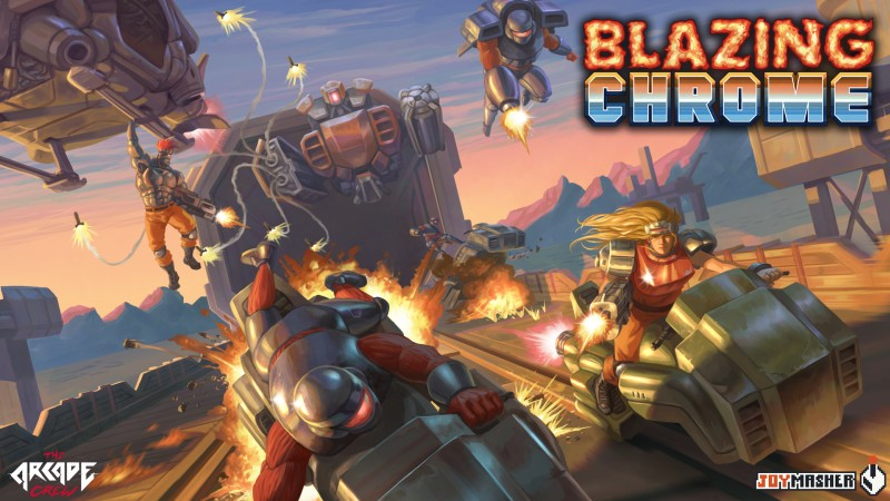 Blazing Chrome Key Art