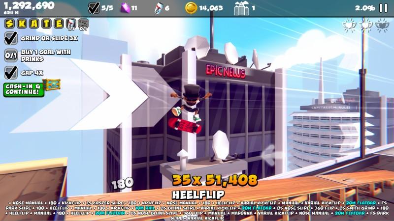 Epic Skater 2 Rooftop Kicktrick