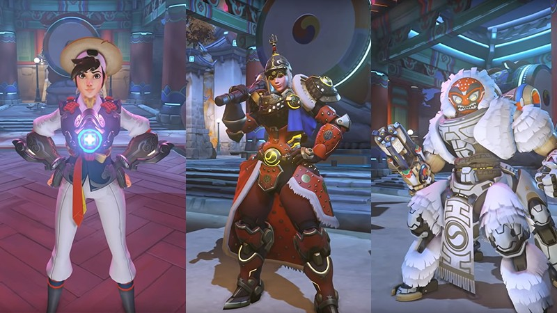 Overwatch Year of the Pig Lunar New Year Hong Gildong Tracer, General Brigitte, Lion Dance Orisa | Blizzard Entertainment