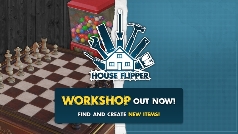 House Flipper - Steam Workshop Key Art | Frozen District