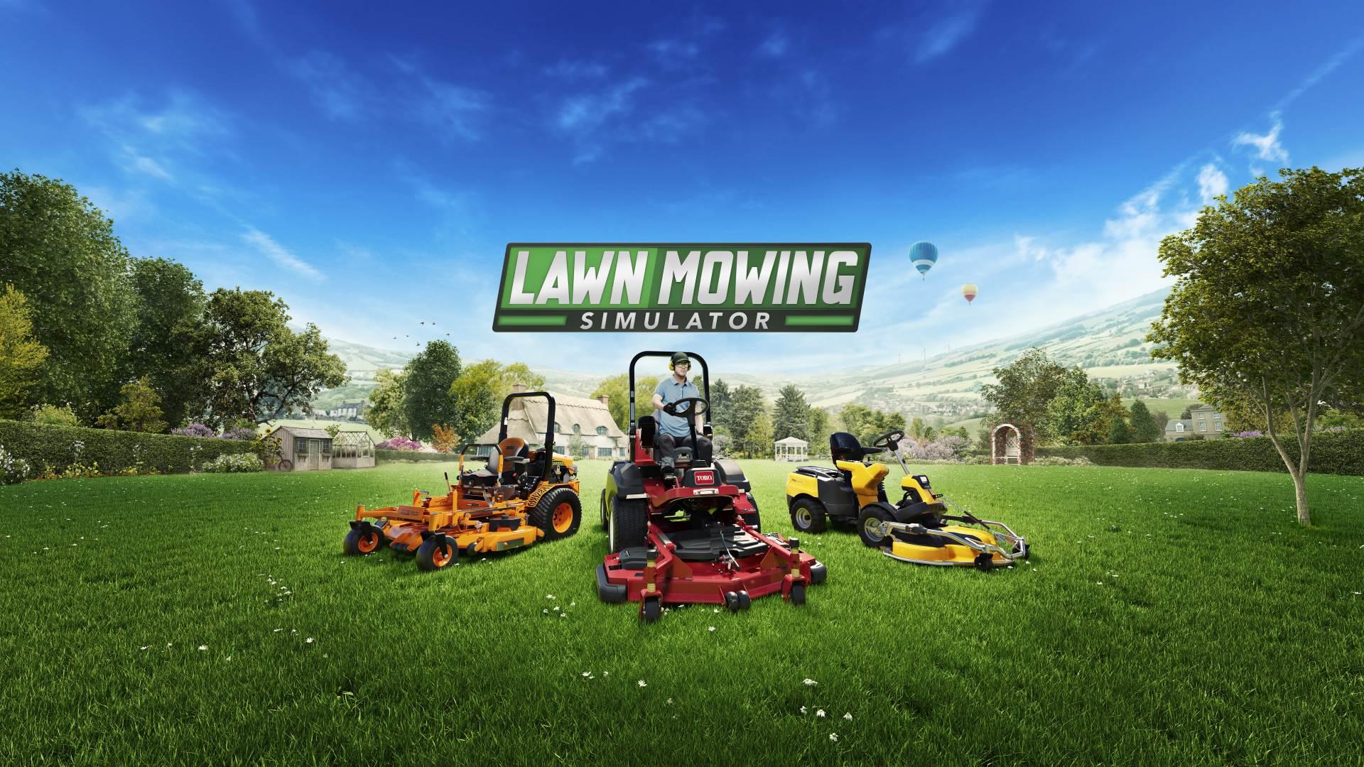 Lawn Mowing Simulator - key art | Curve Digital, Skyhook Games