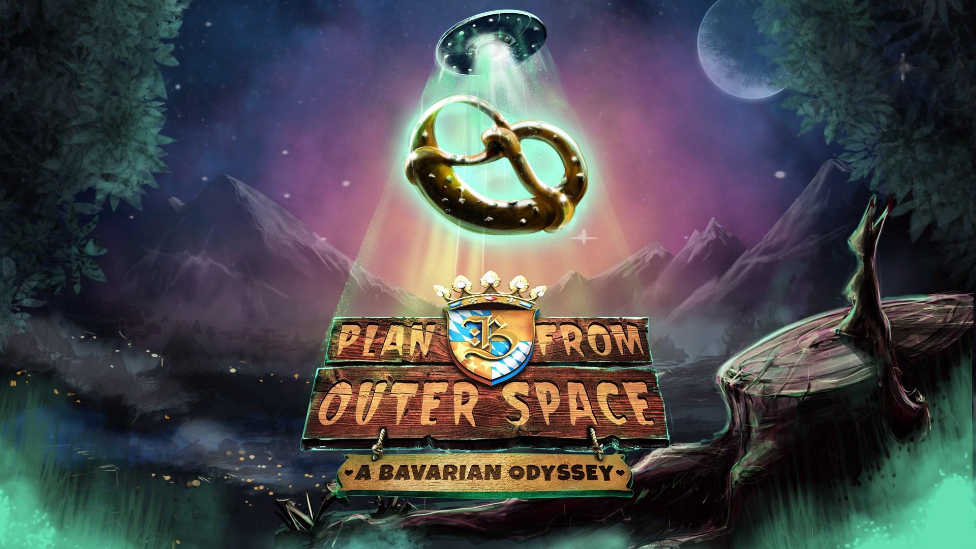 Plan B from Outer Space: A Bavarian Odyssey - key art | Assemble Entertainment, Robot Pumpkin Games