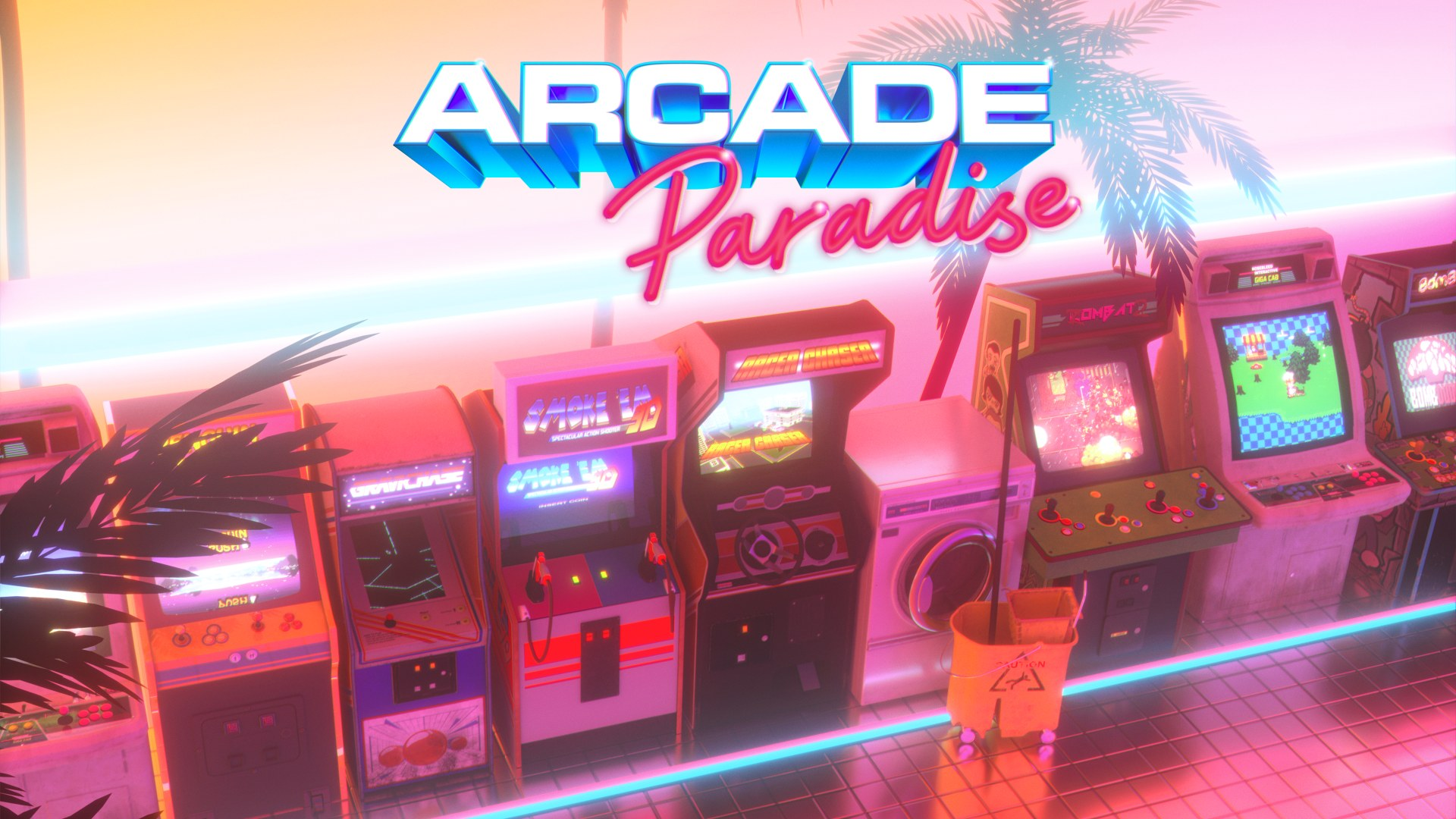 Arcade Paradise - key art | Wired Productions, Nosebleed Interactive